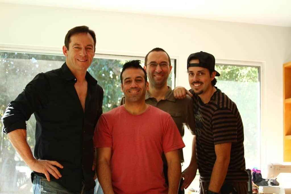 """Doing sound for """"A Life In Movies"""" with Jason Isaacs, Christopher Williams, and Pierre Gunti"""