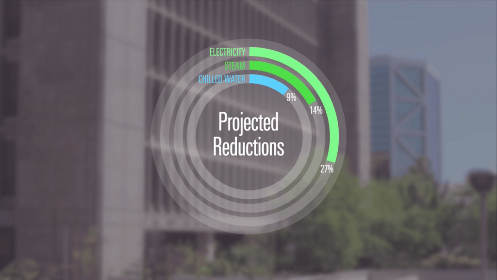 Sample motion graphic from The Climate Registry Cool Planet Award ceremony video